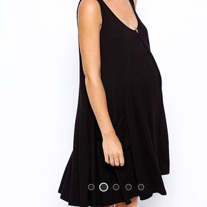 Asos Maternity black swing dress
